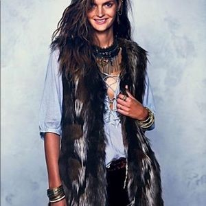 Free People Swagger Faux Fur Vest